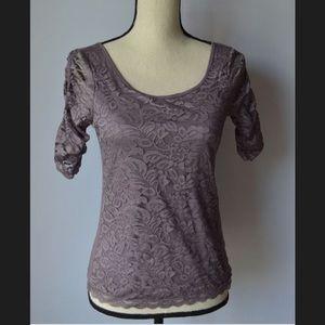 American Eagle Purple Lace Shirt XS